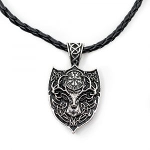 Amulet Viking Deer and Rune Compass