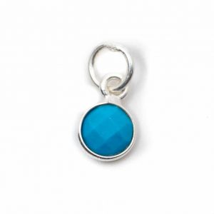 Birthstone Pendant December Turquoise 925 Silver (6 mm)