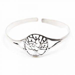 Bracelet Tree of Life Adjustable Silver-tone