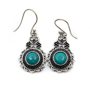 Bohemian Earrings Brass with Turquoise