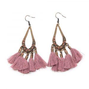 Bohemian Pink Earrings