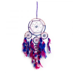 Dreamcatcher with purple tones (55 cm)
