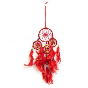 Dreamcatcher with Red and Coloured Beads