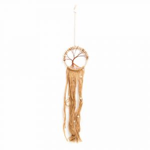 Dreamcatcher with Tree of Life Braided Brown
