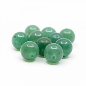Gemstone Loose Beads Green Aventurine - 10 pieces (12 mm)