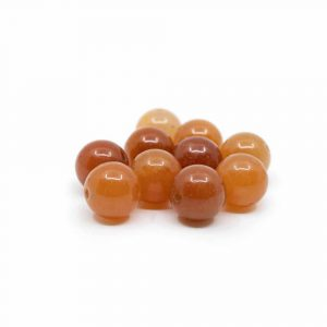 Gemstone Loose Beads Red Aventurine - 10 pieces (12 mm)