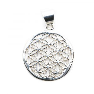 Flower of Life Pendant 925 Silver (20 mm)
