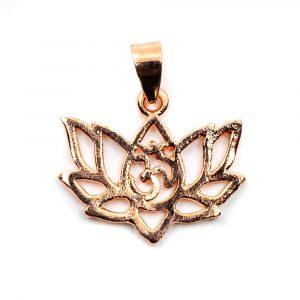 Pendant OHM Lotus Brass Rose Gold-tone (20 mm)