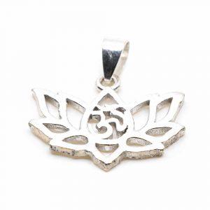 Pendant OHM Lotus Brass Silver-tone (20 mm)