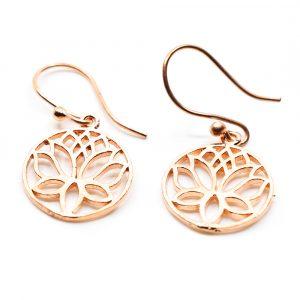 Earrings Lotus Brass Copper (20 mm)