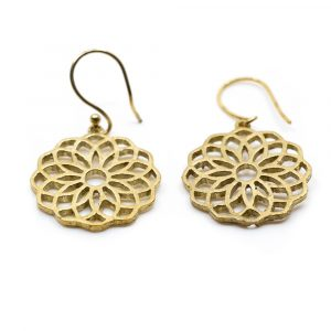 Earrings Mandala Brass Gold-tone (20 mm)