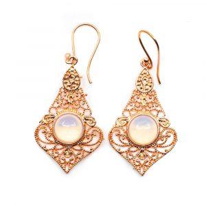 Bohemian Earrings Copper with Rock Crystal