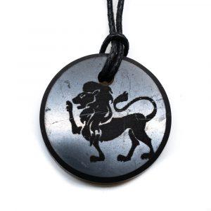 Shungite Horoscope Pendant Leo (30 mm)