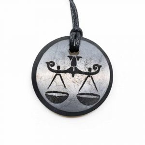 Shungite Horoscope Pendant Libra (30 mm)