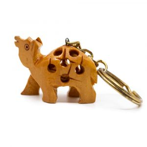 Wooden Keychain Dromedary Handmade (20 mm)