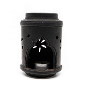 Terracotta Aroma Burner Black (14 cm)