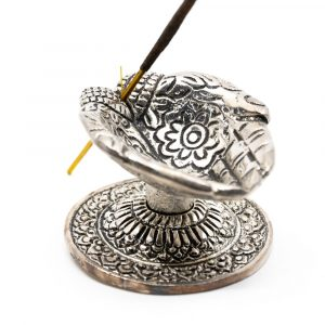 Traditional Incense Burner Giving Hands Silver