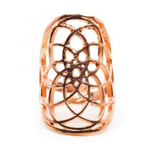 Adjustable Ring Seed of Life Copper (30 mm)