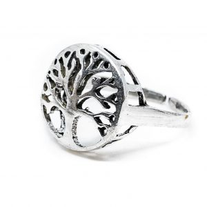 Adjustable Ring Tree of Life Silver-tone (20 mm)