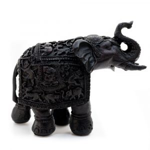 Elephant Statue - Traditional Design (14 cm)