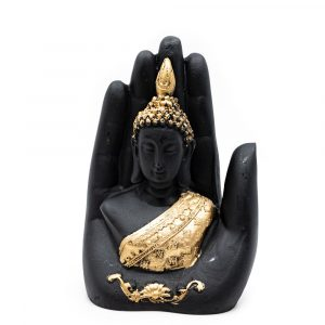 Buddha in Hand with Gold Colour (15 cm)