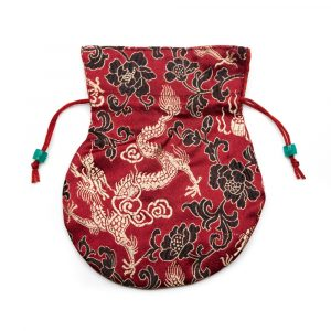 Brocade Bag Handmade - Dark Red
