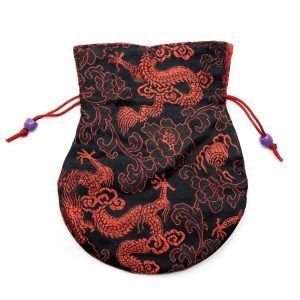 Brocade Bag Handmade - Black / Red