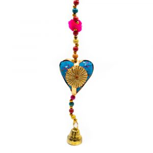 Decorative Garland Fabric Hearts with Bell (80 cm)