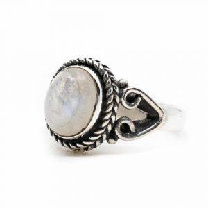 "Gemstone Ring Moonstone 925 Silver ""Vesora"" (Size 17)"