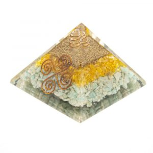 Orgonite Pyramid Citrine/Amazonite - Vastu - (75 mm)
