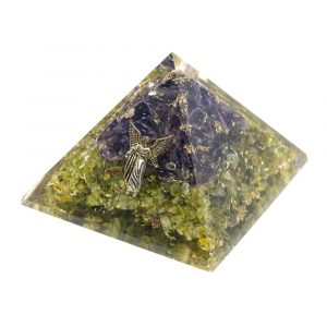 Orgonite Pyramid Peridote/Amethyst - Angel Raphael (70 mm)