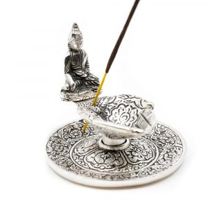 Traditional Incense Burner with Buddha Silver-coloured