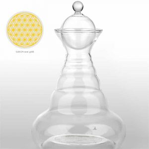 Ground water carafe Golden Alladin with Flower of Life Gold
