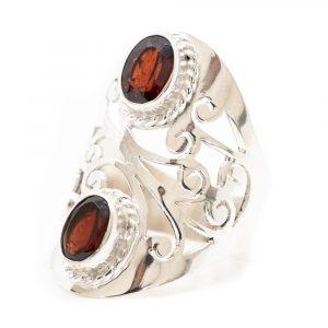 "Gemstone Ring Garnet 925 Silver ""Yosroa"" (Size 17)"