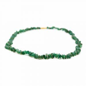 Gemstone Chip Necklace Green Jade (45 cm)