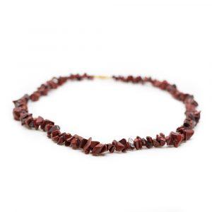 Gemstone Chip Necklace Red Jasper (45 cm)