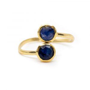 Birthstone Ring Sapphire September - 925 Silver - Adjustable