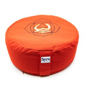 Spiru Meditation Cushion Cotton Red - 1st Chakra Muladhara - 36 x 15 cm
