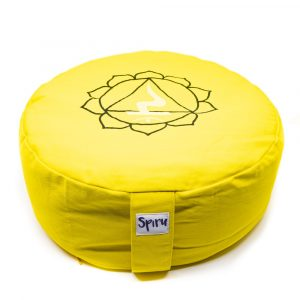 Spiru Meditation Cushion Cotton Yellow - 3rd Chakra Solar Plexus - 36 x 15 cm