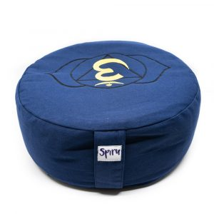 Spiru Meditation Cushion Cotton Indigo - 6th Chakra Ajña - 36 x 15 cm