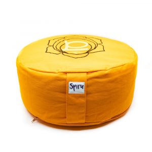 Spiru Meditation Cushion Cotton Orange - 2nd Chakra Swadhishthana - 36 x 15 cm