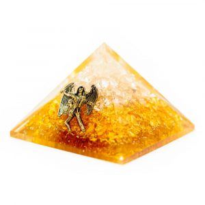Orgonite Pyramid - Citrine with Angel (40 mm)