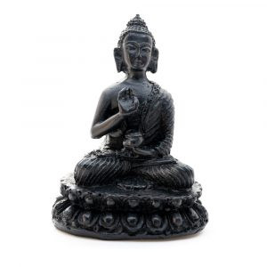 Buddha Stone - Black finish - Teaching (10 cm)