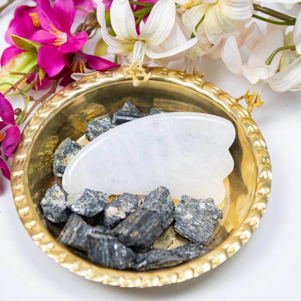 Gua sha Scraper stone white Jade