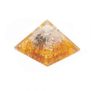Orgonite Pyramid Citrine - Angel (70 mm)