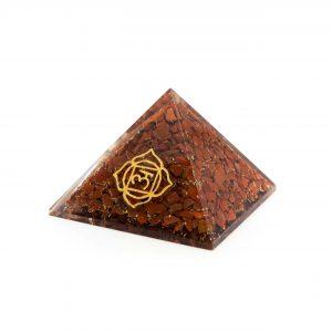 Orgonite Pyramid - Basic Chakra - Red Jasper (70 mm)