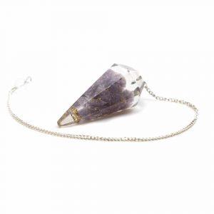 Pendulum Gemstone Lepidolite Orgon Purple