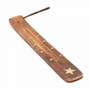 Incense Holder Wood Star (25 cm)