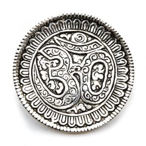 Silver-coloured Incense Burner Ohm Brass (85 mm)