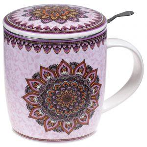 Tea Mug Set Mandala Purple
